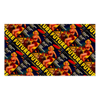 Vintage Pulp Paperback Sci-Fi Space Girl Cover Business Card