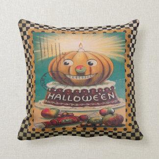 Vintage Pumpkin and Goodies Cushion