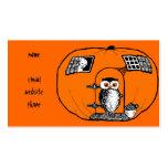 Vintage Pumpkin House Owl Pack Of Standard Business Cards