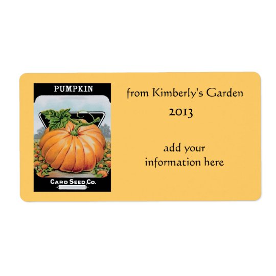 vintage pumpkin labels