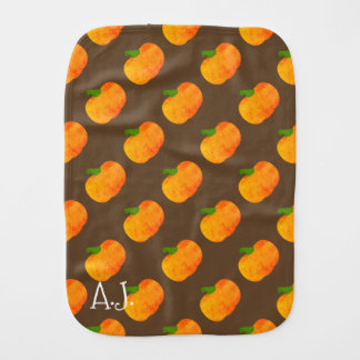 Vintage Pumpkin Print Burp Cloth
