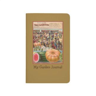 Vintage Pumpkin Seed Packet Garden Pocket Journal
