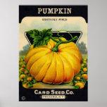 Vintage Pumpkin Seed Packet - Print