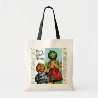 Vintage pumpkins Halloween trick or treat bag