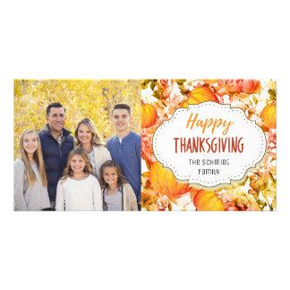 Vintage Pumpkins Happy Thanksgiving Photo Card