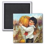 Vintage Pumpkins Magnet Fridge Magnet