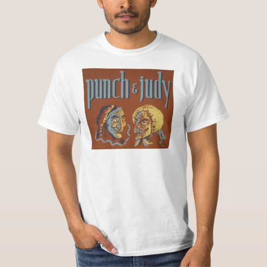 Vintage Punch and Judy Design T Shirt