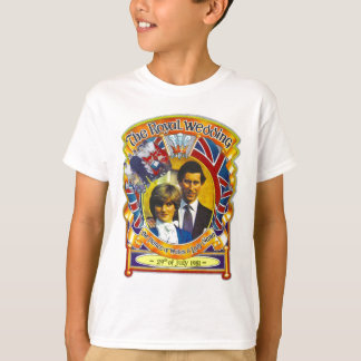 Vintage Punk rock royal wedding Charles and Di T-shirts