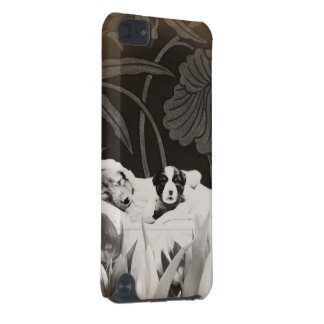 Vintage Puppies Woman Flower Collage iPod Touch 5G Case