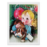 """VINTAGE """"PUPPY"""" HOLIDAY COVER ART POSTER"""