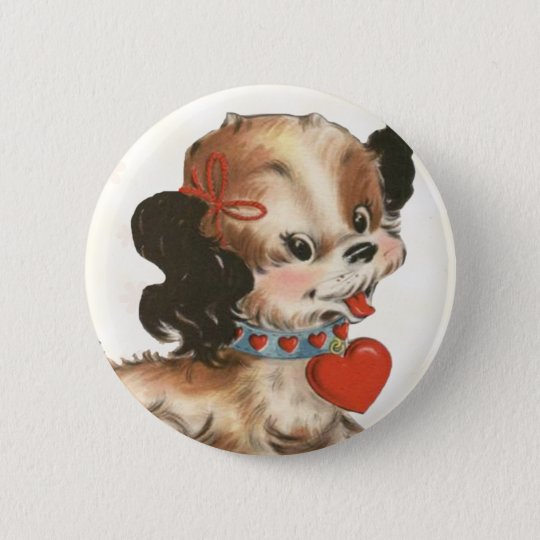 Vintage Puppy Kid's Valentine Pin
