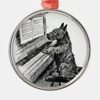 "Vintage ""Puppy Playing the Piano"" Ornament"