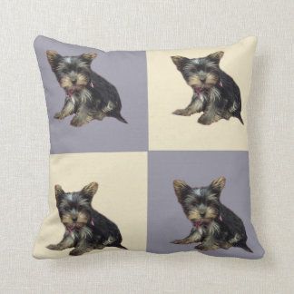 Vintage puppy print cushions