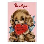 Vintage Puppy Valentine Card