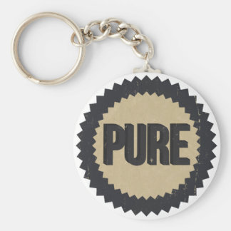 Vintage Pure sign Basic Round Button Key Ring