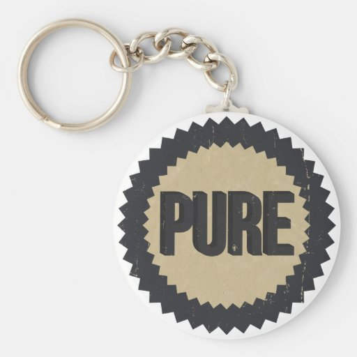 Vintage Pure sign Keychain