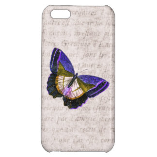 Vintage Purple and Gold Butterfly Illustration iPhone 5C Case