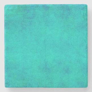 Vintage Purple Aqua Blue Green Parchment Stone Coaster