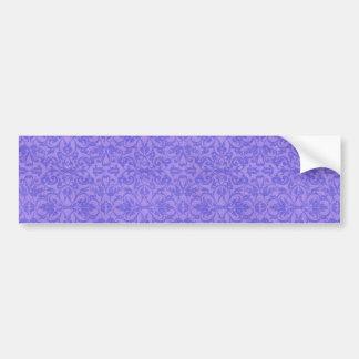 Vintage Purple Awareness Floral Bumper Sticker