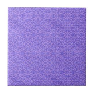 Vintage Purple Awareness Floral Ceramic Tiles