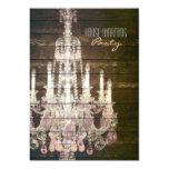vintage purple chandelier housewarming party 13 cm x 18 cm invitation card