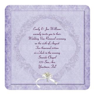 Vintage Purple Damask 13 Cm X 13 Cm Square Invitation Card