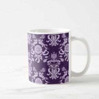 Vintage Purple Damask (5) Coffee Mug