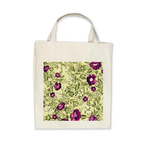 Vintage Purple Flowers Bags