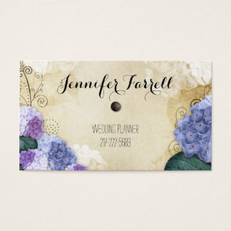 Vintage Purple Flowers Business Cards