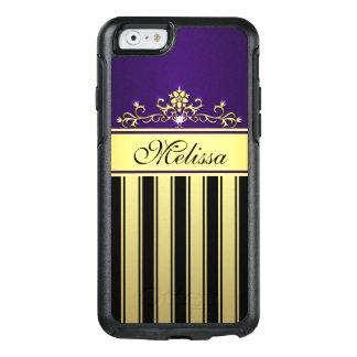 Vintage Purple Gold Black OtterBox iPhone 6 Case