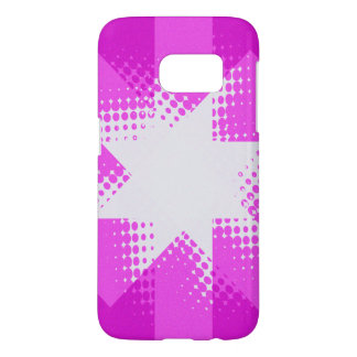 Vintage purple halftone star