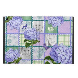 Vintage Purple Hydrangea Instagram Photo Quilt iPad Air Cases