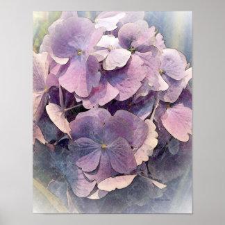 Vintage Purple HydrangeasPhoto Art Poster