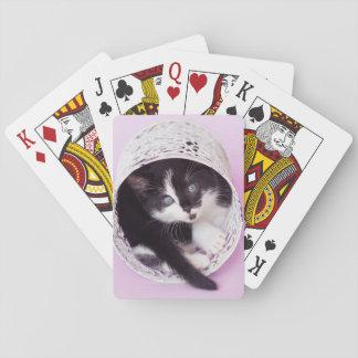 Vintage Purple Kitten Playing Cards