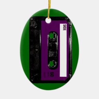 Vintage Purple Label Cassette Ceramic Oval Decoration