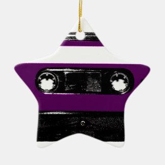 Vintage Purple Label Cassette Christmas Ornament