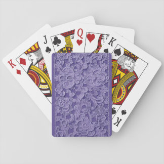 Vintage Purple Lace Deck of Cards