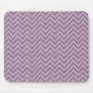 Vintage Purple Lilac Ikat Chevron Zigzag Mousepads