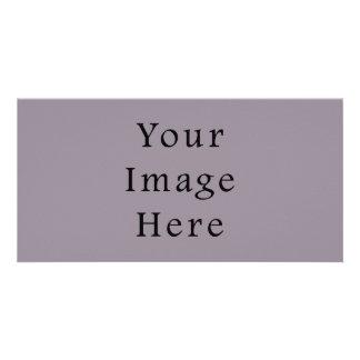 Vintage Purple Mauve Color Trend Blank Template Photo Greeting Card