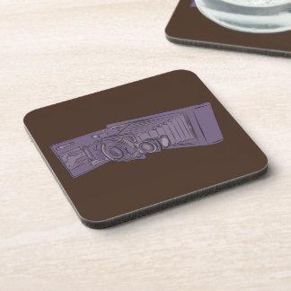 VIntage Purple Old Camera Beverage Coasters