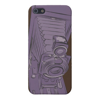 VIntage Purple Old Camera Cover For iPhone 5/5S