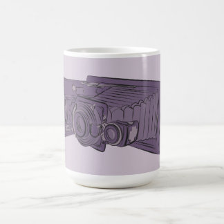 VIntage Purple Old Camera Coffee Mug