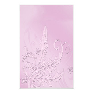 Vintage Purple Passion Floral Stationery