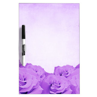 Vintage Purple Rose Dry Erase Board
