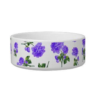 Vintage purple roses pet bowl