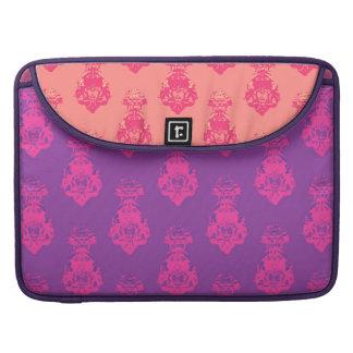 Vintage purple/salmon color background MacBook pro sleeve
