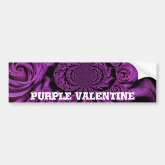 Vintage Purple Valentine's Day Bumper Sticker