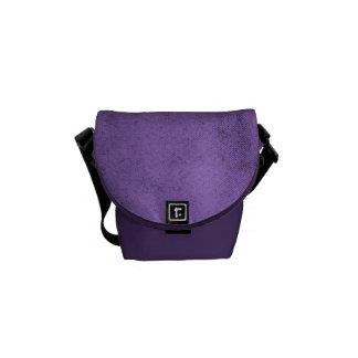 Vintage Purple Velvet Fabric Texture Messenger Bag