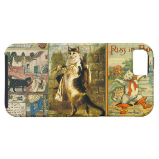 Vintage Puss in Boots Christmas Montage iPhone 5 Cover