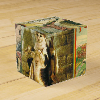 Vintage Puss in Boots Christmas Montage Party Favour Box